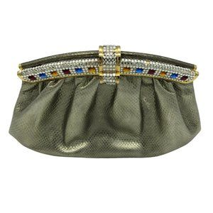 Vintage Gold Evening Bag Clutch Jeweled Details
